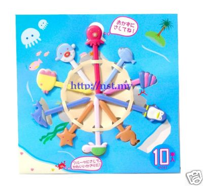 Japan Import Ocean World Sandwich/dessert/Cake Picks