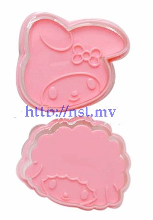 Japan Import Melody toast/cookies mould(2 in group)
