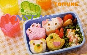 Cute Rabbit+Bird+Bear+Elephant Rice/Cookies/Cheese/Ham Mould