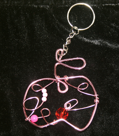 Apple Wire Craft Keychain