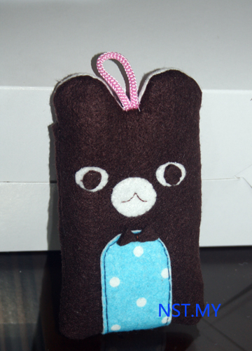 Handmade Bear Shaped Hand phone Pouch