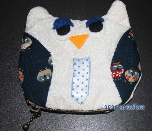 Handmade Monday Blue Owl Purse