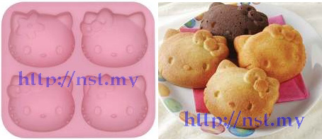 Japan Import Kitty cake/jelly/pudding/muffin mould 4