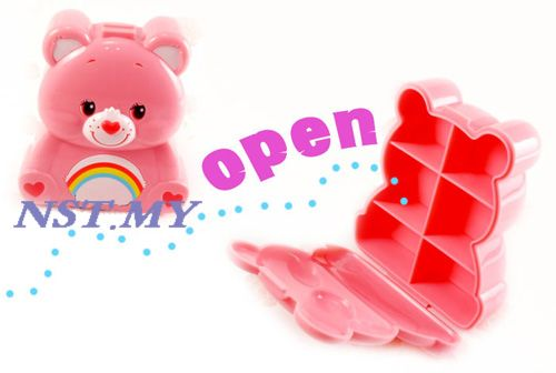 Japan Import Care Bear QQ Jewelry/medicine case