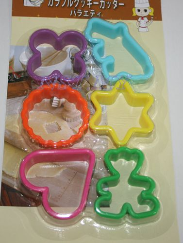 Japan Import 6 different shapes cute cookies/cheese/ham Mould