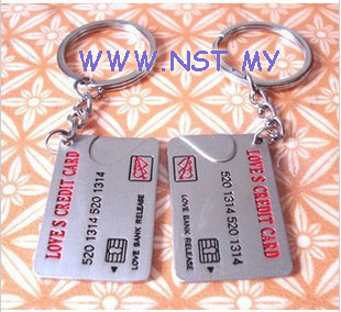 Credit Card couple keychain