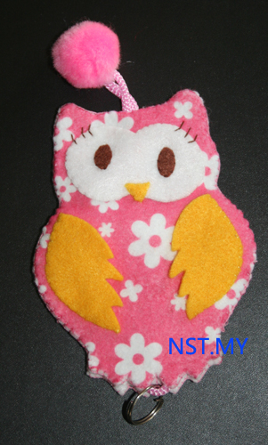 Handmade Key Holder- Flower Owl