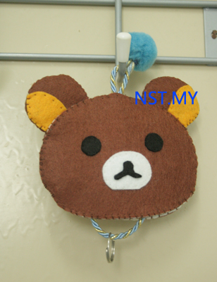 Handmade Key Holder-Rilakkuma Face