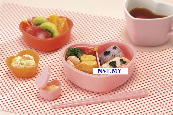 Heart Shaped Microwavable Bento Box