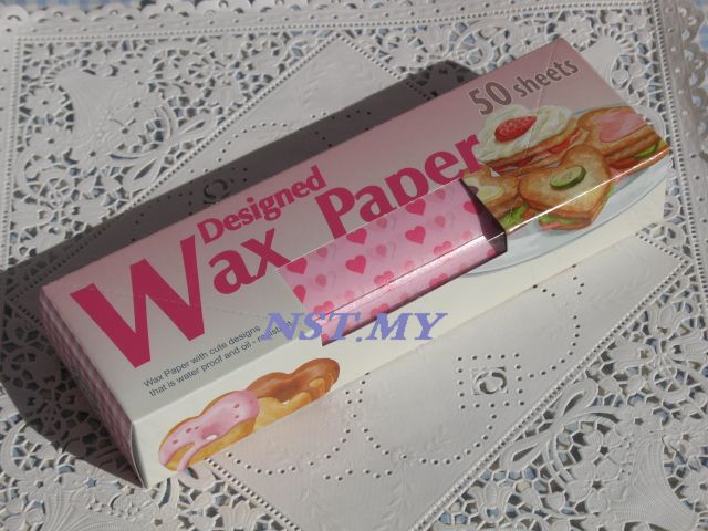 Japan Import Heart Shaped Wax Paper