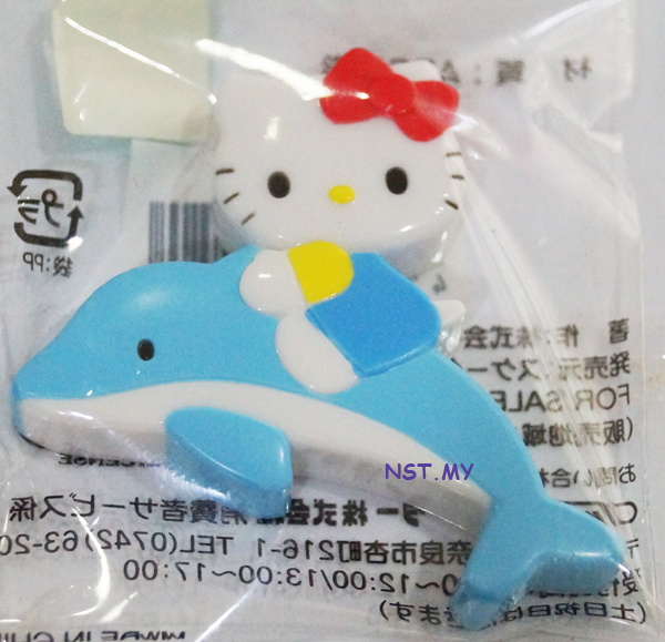 Hello Kitty n Dolphin Magnet - Click Image to Close