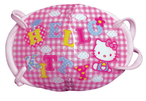 Hello Kitty words Bio Face Mask Pink