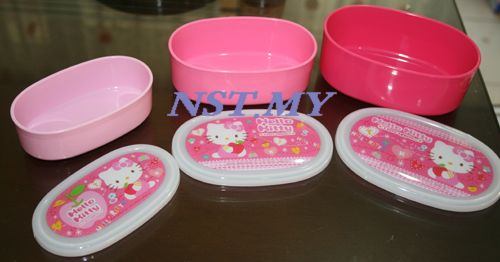 Japan Made Kitty Pink 3 in 1 Bento Box Set
