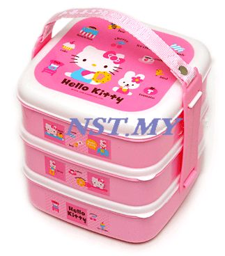 Korea Import Kitty 3-tied Bento Box-