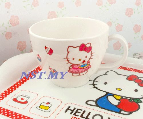 Korea Import Kitty Big Capacity Hard to break big soup/dessert b