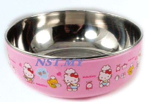 Korea Import Kitty Cute Chef Stainless Steel Bowl