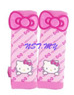 Korea Made Hello Kitty Bows Safety Belt Cover (2Pcs)