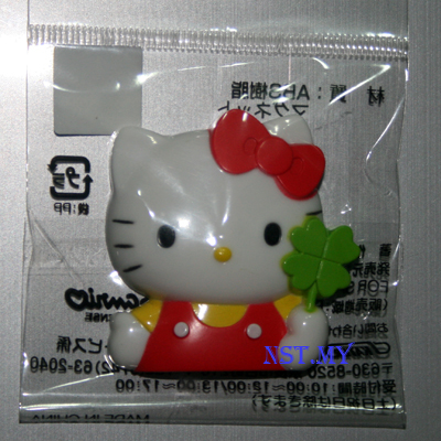 Kitty and Clover Leaf Magnet