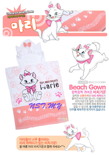 Korea Import Beach Towel Gown-Marie Cat