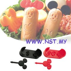 Mickey Minnie Wiener Cutter & Food Picks Set