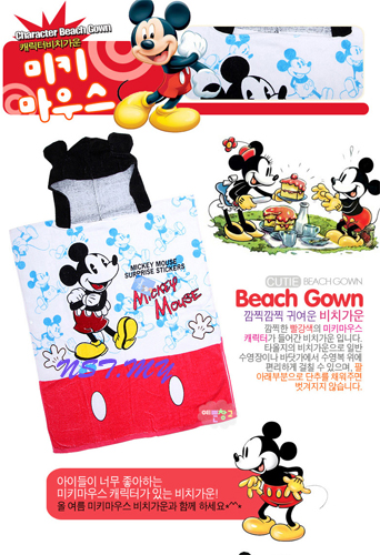 Korea Import Beach Towel Gown-Mickey - Click Image to Close