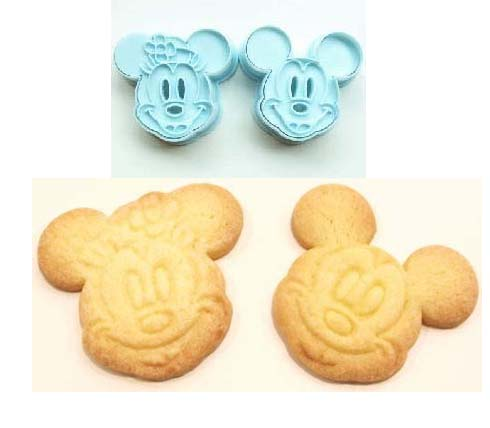Japan Import Mickey Minnie Cookies Mould - Click Image to Close