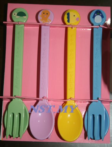 Japan Import Ocean World cake/puddingFork & Spoon Set