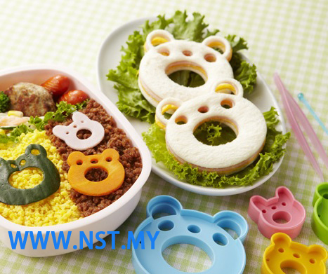 Panda Rabbit Bear Frog Vegetable/cheese/ham/bread cutter set
