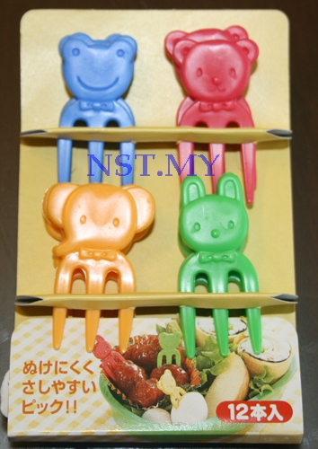 Japan Import Frog+Elephant+ Bear+Rabbit Heat Resistant Picks