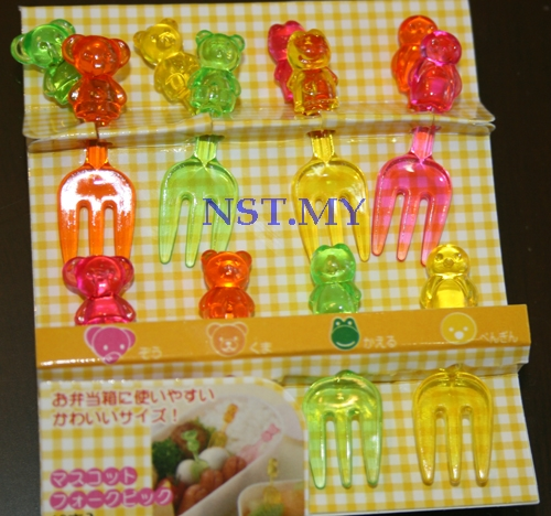 Japan Import Penguin+Frog+Elephant+ Bear Heat Resistant Picks