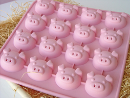 Chocolate/Jelly/Cookies Pig Head Silicon Mould