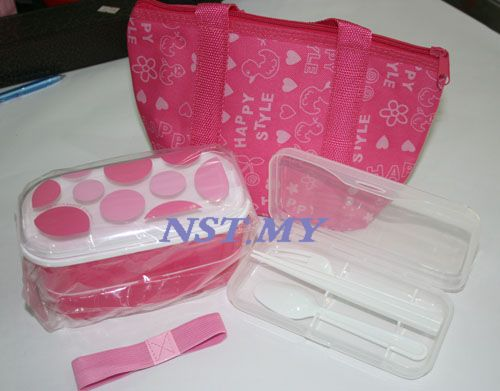 Japan Import Pink Bento Box Set