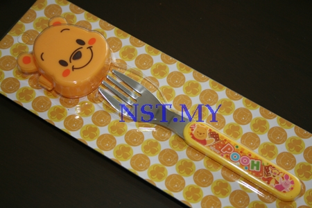 Japan Import Pooh Fork with cover set