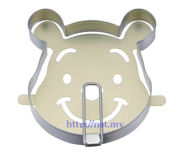 Pooh Head Shaped Pancake/egg/burger Mould + Stencil