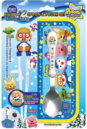 Pororo Edison Chopstick,Spoon Case Set(RightHand)