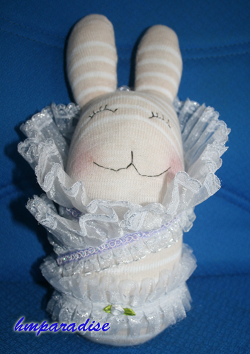 Rabbit in the Wonderland Handmade Sock Dolls