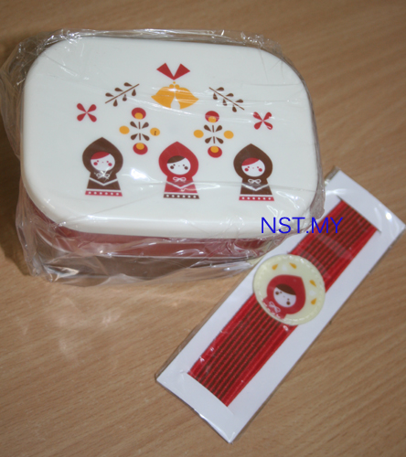 Red Riding Hood 2-tier Lunch Box for Kid with bento strap