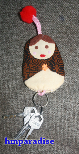 Handmade Russian Doll Key Holder