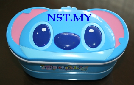 Stitch Double Decker Bento Box+Chopstick+Strap set