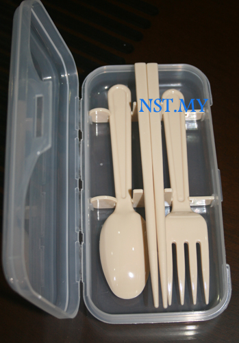 Japan Made Fork+Spoon+Chopstick Box Set(Beige)