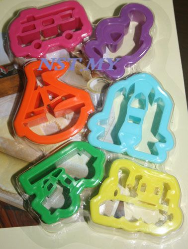 6 in 1 Transport Cookies Mould