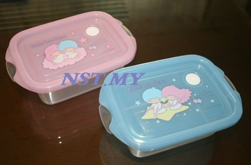 Japan Made Twin Star Microwavable Lunch Box(2 in set)