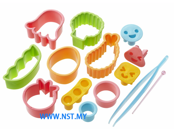 Vegetable/cheese/ham cutter set