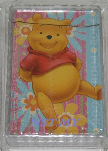 Cute Winnie the Pooh Poker Card with case