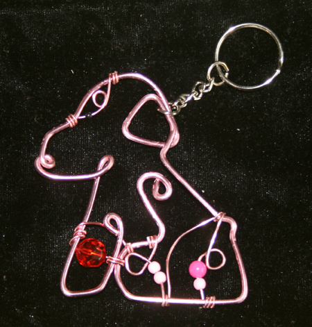 Dog Wire Craft Keychain