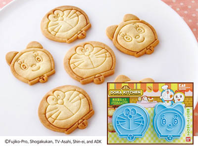 Japan Made Doraemon & Dorami Cookies/toast Mould set