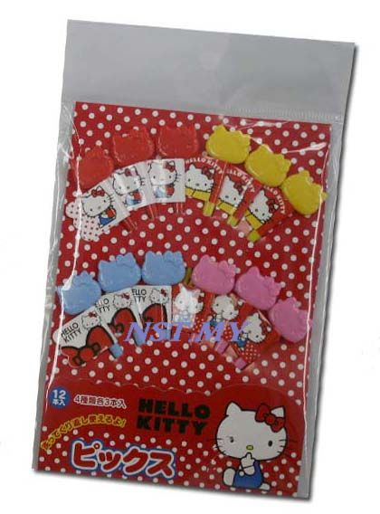 Japan Made Hello Kitty Reusable flag pick