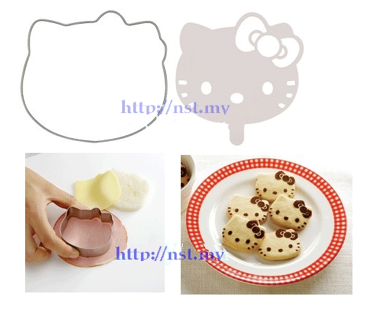 Japan Import Kitty Face Moss Ring + Sprinkle/toast/cheese mould