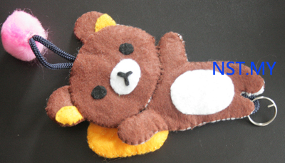 Handmade Key Holder- Lying Rilakkuma