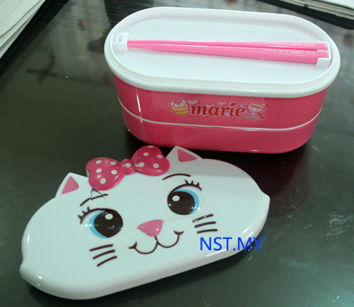 Marie Cat Double Decker Bento Box set(with flaw)